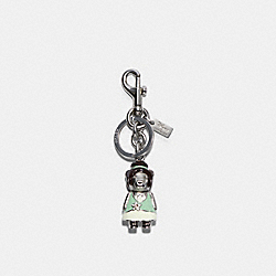 DISNEY X COACH TIANA BEAR BAG CHARM - SV/PALE GREEN - COACH C0268