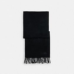 SOLID CASHMERE SCARF - C0380 - BLACK
