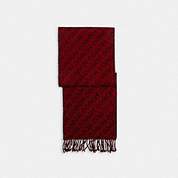 COACH C0543 - SIGNATURE SCARF RED/BLACK