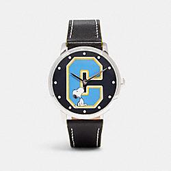COACH C0618 Coach X Peanuts Snoopy Grand Watch, 40mm BLACK
