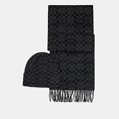 *シグネチャー スカーフ アンド ハット セット