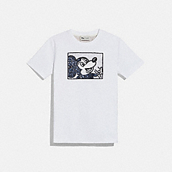 DISNEY MICKEY MOUSE X KEITH HARING T-SHIRT - C0732 - WHITE