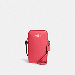 NORTH/SOUTH ZIP CROSSBODY - IM/FUCHSIA - COACH C0736