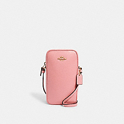 NORTH/SOUTH ZIP CROSSBODY - C0736 - IM/LIGHT BLUSH