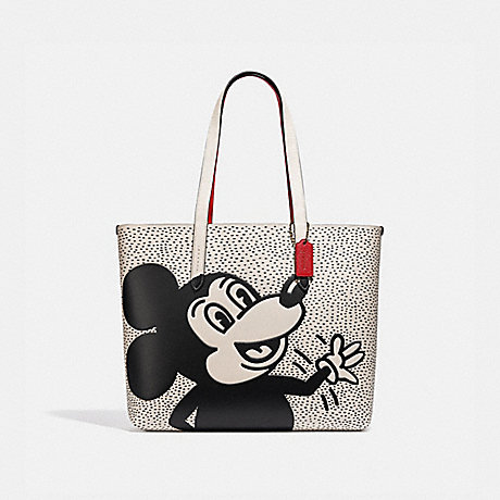 COACH C0895 DISNEY MICKEY MOUSE X KEITH HARING HIGHLINE TOTE B4/CHALK