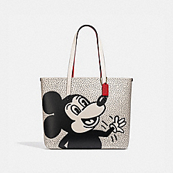 DISNEY MICKEY MOUSE X KEITH HARING HIGHLINE TOTE - B4/CHALK - COACH C0895