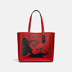 DISNEY MICKEY MOUSE X KEITH HARING HIGHLINE TOTE - C0896 - B4/ELECTRIC RED