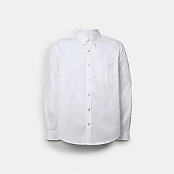 COACH C0971 Long Sleeve Oxford Shirt WHITE