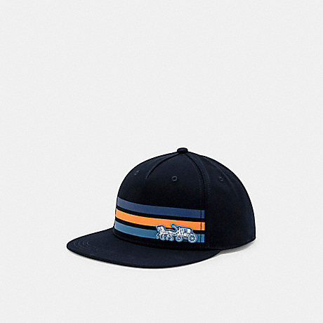 COACH C0978 HORSE AND CARRIAGE BRIM HAT NAVY