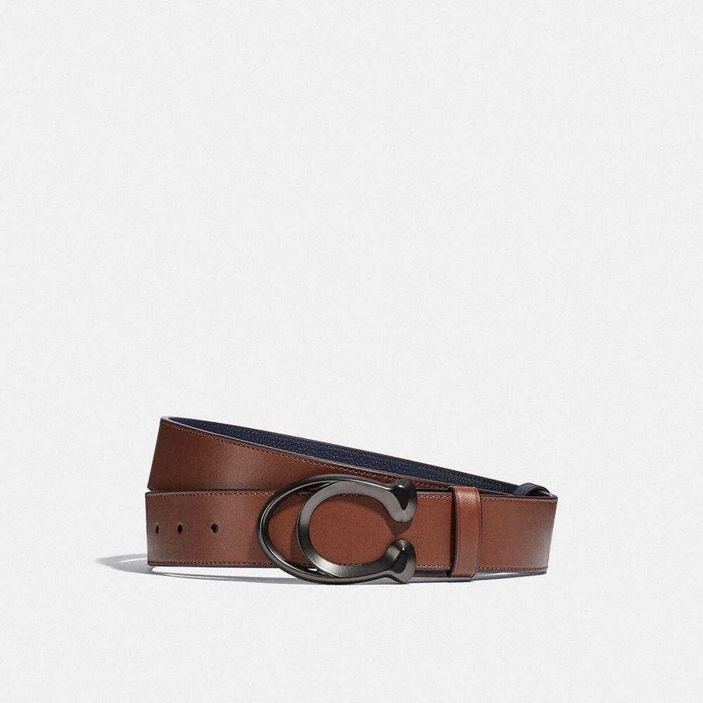 經典 SIGNATURE 扣環雙面皮帶