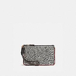 COACH C1176 Disney Mickey Mouse X Keith Haring Small Wristlet B4/CHALK