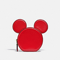 COACH C1181 - DISNEY MICKEY MOUSE X KEITH HARING COIN CASE B4/ELECTRIC RED