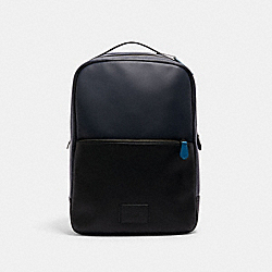 COACH C1291 Westway Backpack In Colorblock QB/MIDNIGHT GREY MULTI