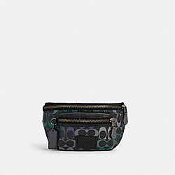 COACH C1293 - WESTWAY BELT BAG IN RAINBOW SIGNATURE CANVAS QB/GRAPHITE GREEN