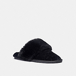 COACH C1344 Zuri Slipper BLACK