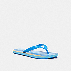 ZAK FLIP FLOP - BLUE/YELLOW - COACH C1351
