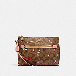 ROWAN POUCH IN SIGNATURE CANVAS WITH CANDY PRINT - C1392 - IM/KHAKI MULTI