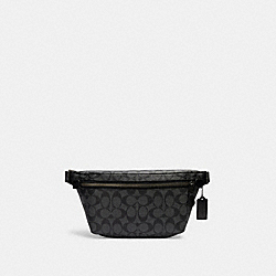 GRADE BELT BAG IN SIGNATURE CANVAS - C1411 - QB/CHARCOAL/BLACK