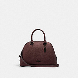 KATY SATCHEL - C1422 - QB/METALLIC CRIMSON