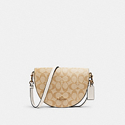 ELLEN CROSSBODY IN SIGNATURE CANVAS - C1430 - IM/LIGHT KHAKI CHALK