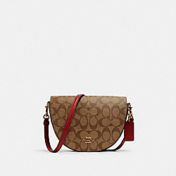 ELLEN CROSSBODY IN SIGNATURE CANVAS - C1430 - IM/KHAKI/1941 RED