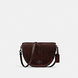 ELLEN CROSSBODY WITH LINEAR QUILTING - C1431 - QB/METALLIC CRIMSON