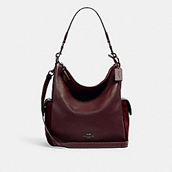 PENNIE SHOULDER BAG - C1522 - QB/DARK BURGUNDY