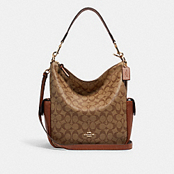 COACH C1523 Pennie Shoulder Bag In Signature Canvas IM/KHAKI REDWOOD
