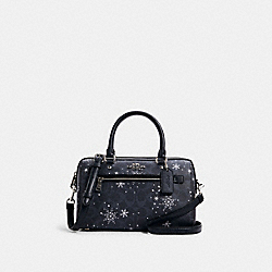 COACH C1546 Rowan Satchel In Signature Canvas With Snowflake Print SV/MIDNIGHT MULTI