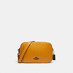 COACH C1569 - JES CROSSBODY WITH LINEAR QUILTING QB/YELLOW