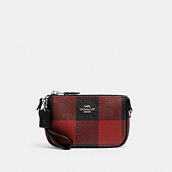 COACH C1580 - NOLITA 15 WITH BUFFALO PLAID PRINT SV/BLACK/1941 RED MULTI