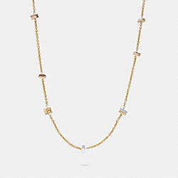 TRI COLOR STATION NECKLACE - SV/MULTI - COACH C1628