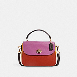 COACH C1650 - MARLIE TOP HANDLE SATCHEL IN COLORBLOCK IM/TERRACOTTA/YELLOW MULTI
