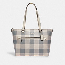 COACH C1773 - GALLERY TOTE WITH BUFFALO PLAID PRINT SV/CHALK MULTI