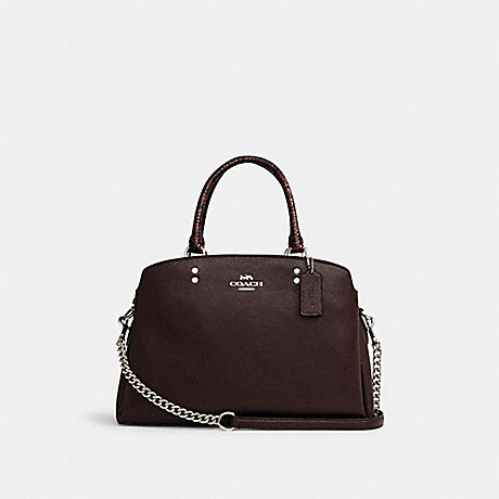 COACH C1784 LILLE CARRYALL IN SIGNATURE CANVAS SV/OXBLOOD-1