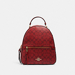 JORDYN BACKPACK IN SIGNATURE CANVAS - C1804 - IM/1941 RED