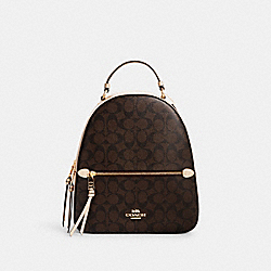 COACH C1805 - JORDYN BACKPACK IN SIGNATURE CANVAS IM/BROWN/METALLIC PALE GOLD