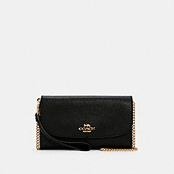GEMMA CLUTCH CROSSBODY - IM/BLACK - COACH C1995