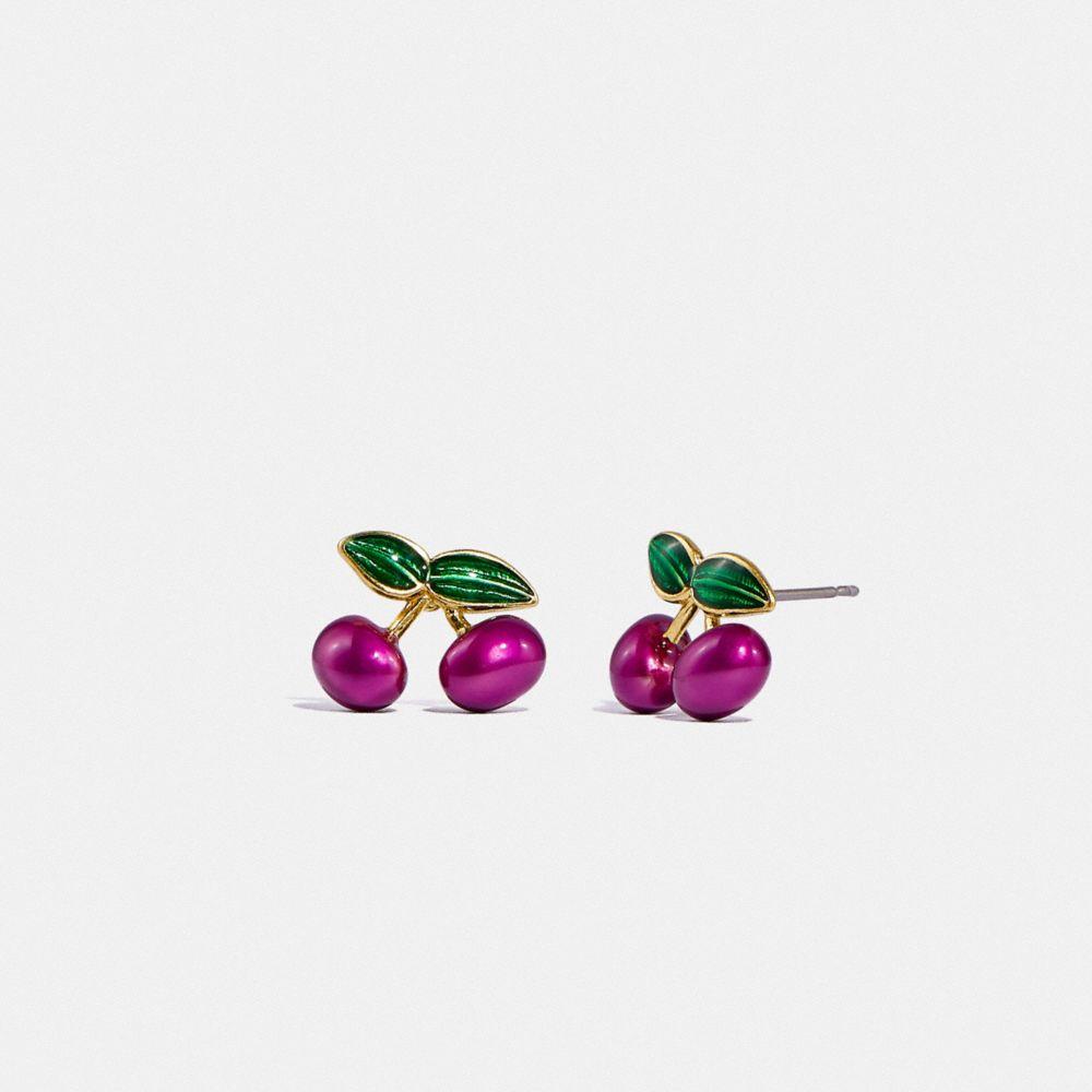 櫻桃飾釘耳環
