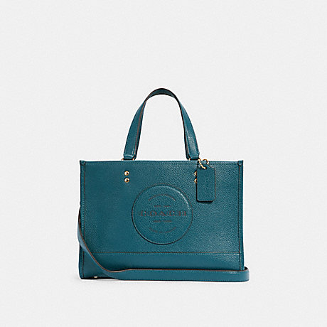 COACH DEMPSEY CARRYALL WITH PATCH - IM/TEAL INK - C2004