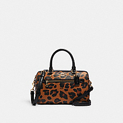 COACH C2014 Rowan Satchel With Leopard Print IM/LIGHT SADDLE MULTI