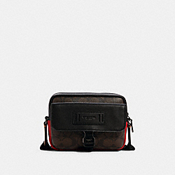 COACH C2074 - RANGER CROSSBODY IN COLORBLOCK SIGNATURE CANVAS QB/MAHOGANY MULTI