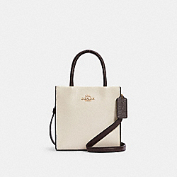 MINI CALLY CROSSBODY IN COLORBLOCK SIGNATURE CANVAS - C2183 - IM/LIGHT KHAKI MULTI