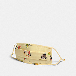 COACH C2400 - UNI FACE MASK WITH FLORAL PRINT YELLOW
