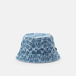 SIGNATURE DENIM BUCKET HAT - C2436 - INDIGO