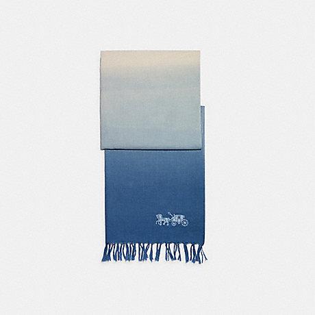 COACH C2489 DIP DYE LINEN OBLONG SCARF BLUEBELL