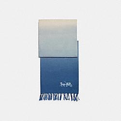 DIP DYE LINEN OBLONG SCARF - BLUEBELL - COACH C2489