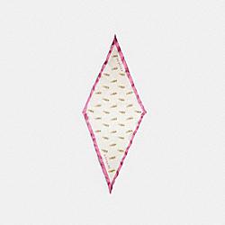 COACH C2491 Lipstick Print Silk Diamond Scarf CHALK/PINK