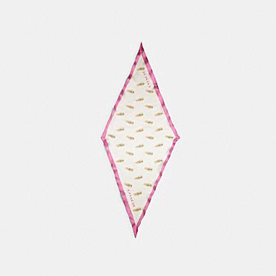 リップスティック プリント シルク ダイヤモンド スカーフ