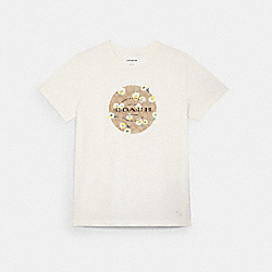 SIGNATURE DAISY EMBROIDERED T-SHIRT - WHITE - COACH C2529